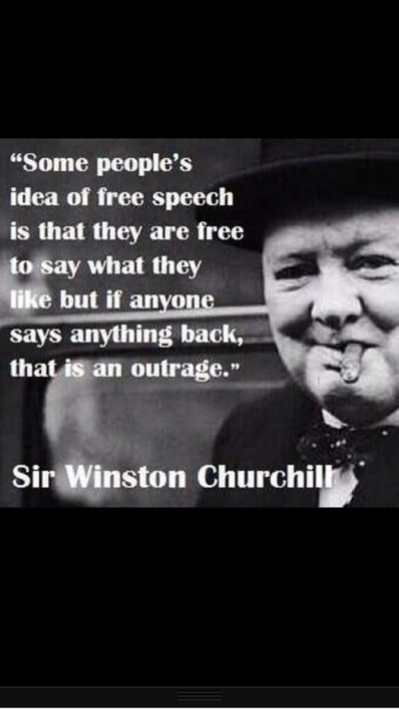 freedom of speech means freedom to offend
