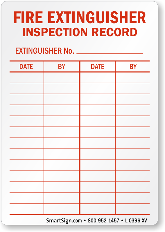 Quotes about extinguisher 42 quotes for Fire extinguisher inspection tag template