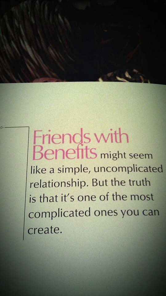 from relationship to friends with benefits