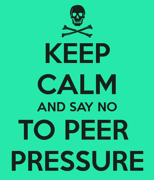 peer pressure and drinking essay If you know there's going to be alcohol or drugs at a party, make other  the best  way to handle a peer pressure bully is to nab him (or her).