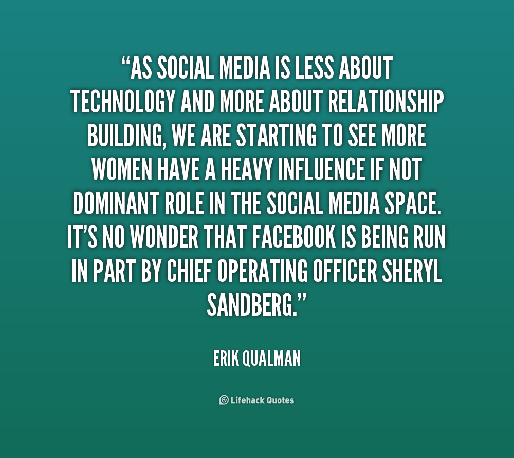 Quotes about Social media networking (41 quotes)