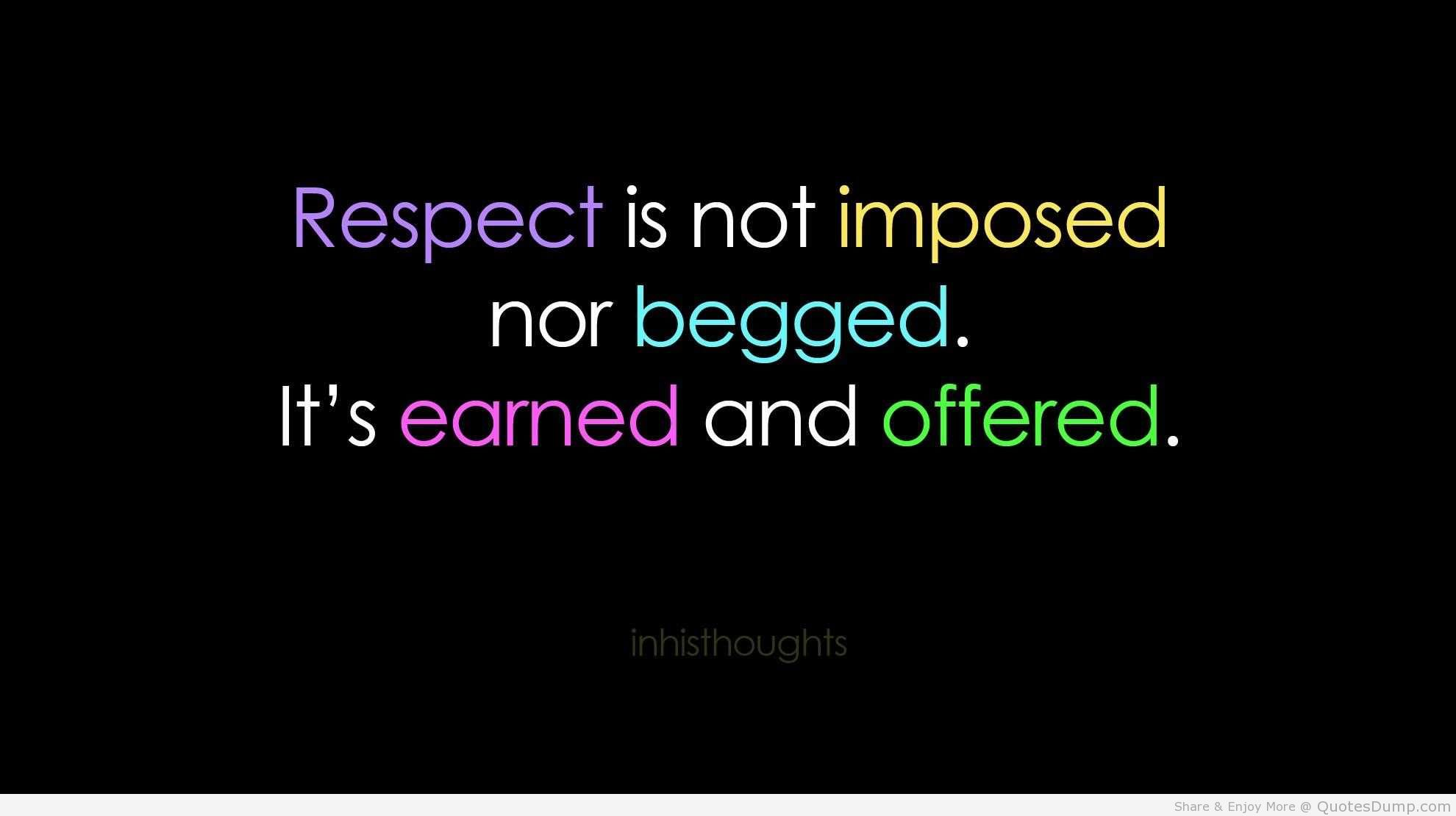 Quotes About Respect 1000 Quotes