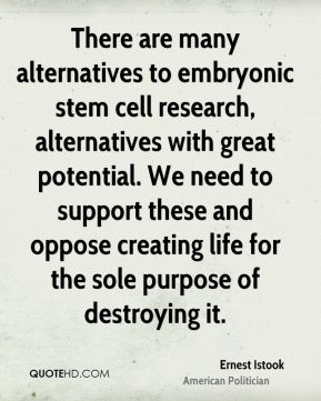 reasons against embryonic stem cell research