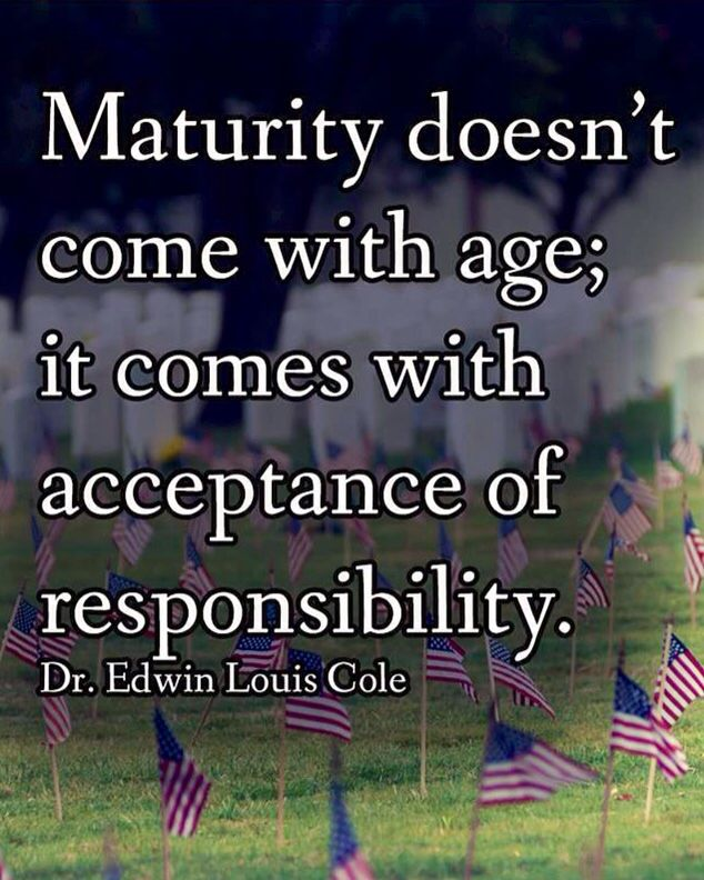 age and maturity essay An essay or paper on maturity of a person being a mature person doesnt just happen over night , and maturity doesnt necessarily have an age rather maturity depends more on a persons sense of wisdom, humility, and responsibility.
