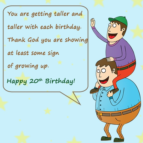 Funny Picturespicphotos Happy 20th Birthday Wishes Quotes Funnybirthdaywisheswp Contentuploads201306funny