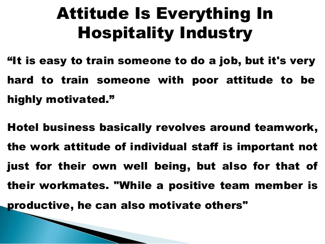importance of teamwork in hotel industry Employee turnover within the us fast-food and hotel industries costs those industries in the motivation in the hospitality industry importance: people tend.