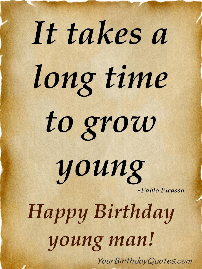 Young Pablo Picasso Happy Birthday Man YourBirthdayQuotes