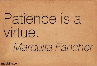 Quotes about Patience Is A Virtue (69 quotes)
