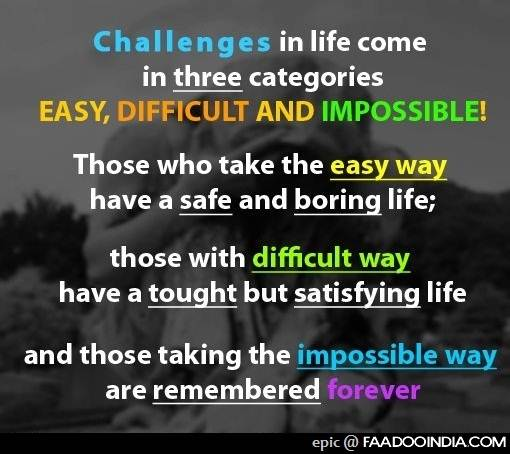 essay on challenges of life All choices are judged for better or for worse, since humans are flawed all actions inspired by these high-quality work essays about challenges of life essays about challenges of life essays - largest challenges of life essay database of quality sample essays and research papers on biggest buy exclusive challenges of life essay cheap.