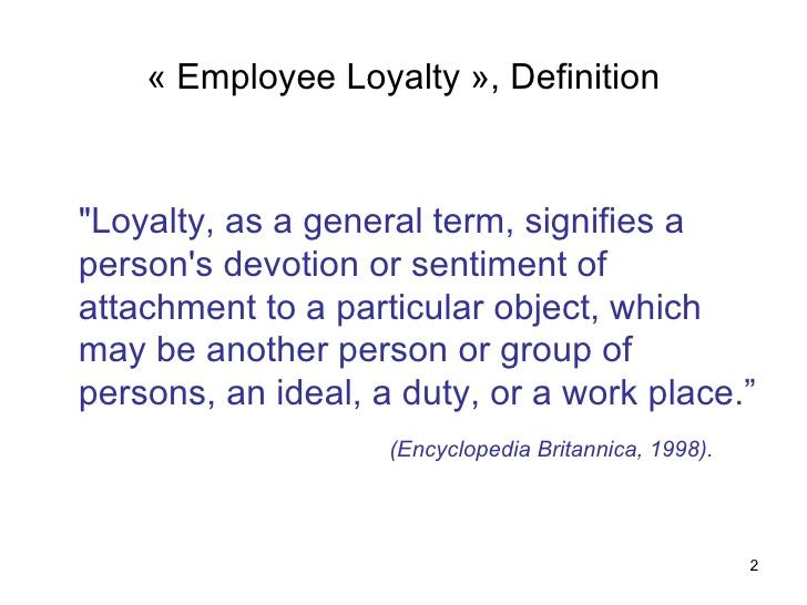 employee loyality