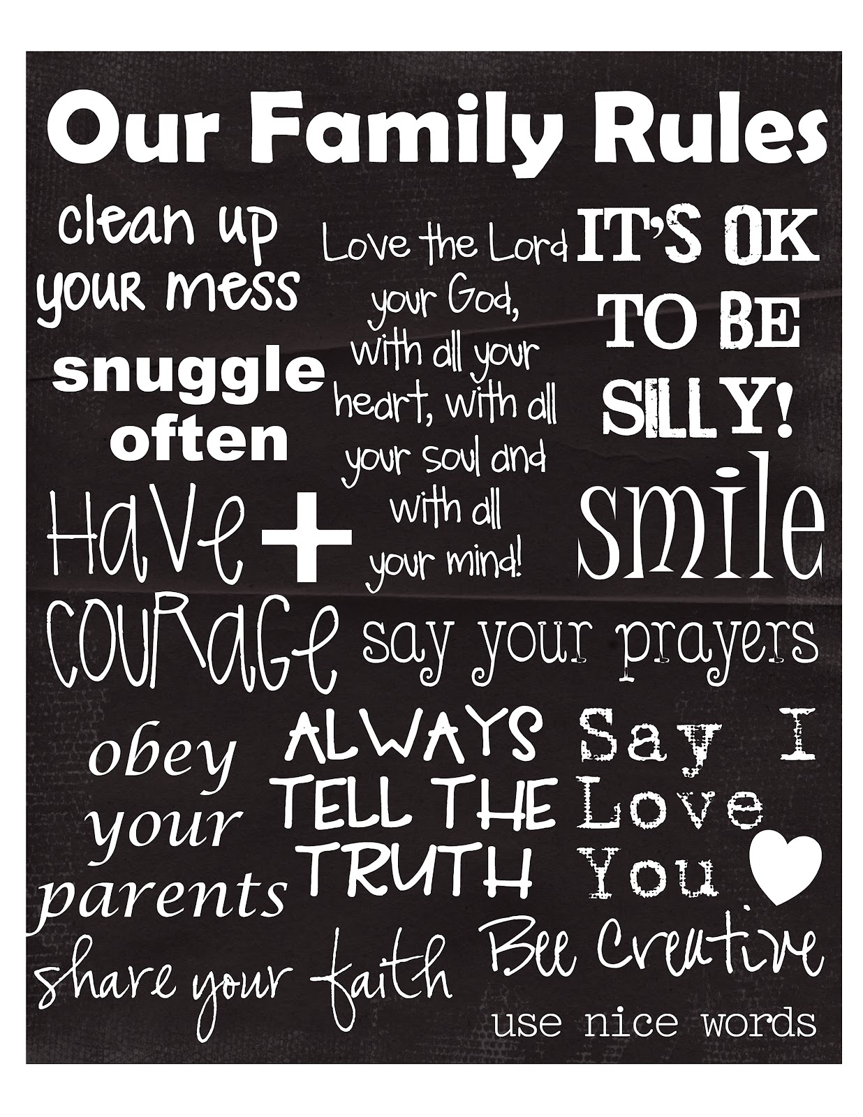 essay about family rules