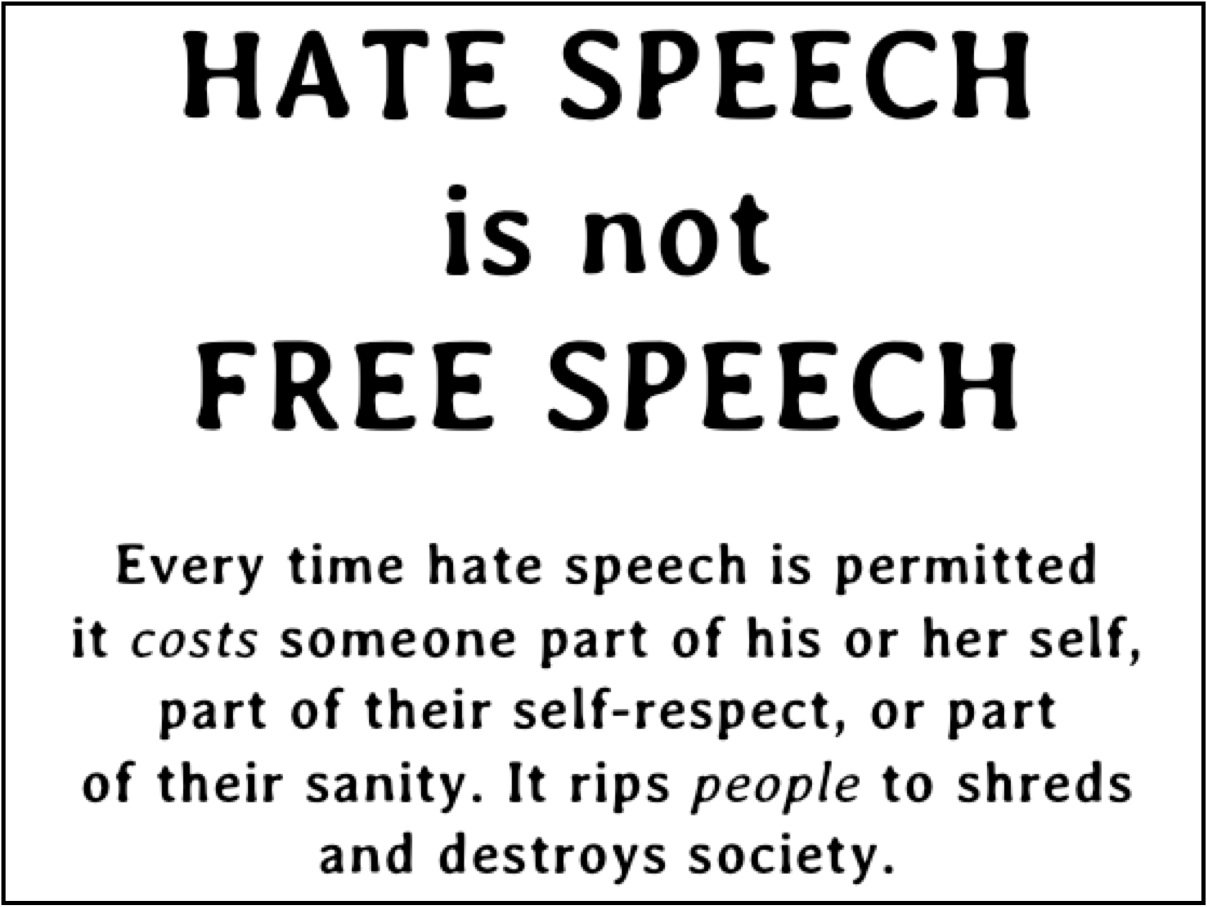 the need for the restrictions of hate speech in america Time to ban hate speech in america power that there's been no need for slippery europe's hate speech restrictions assume that those laws are used to.
