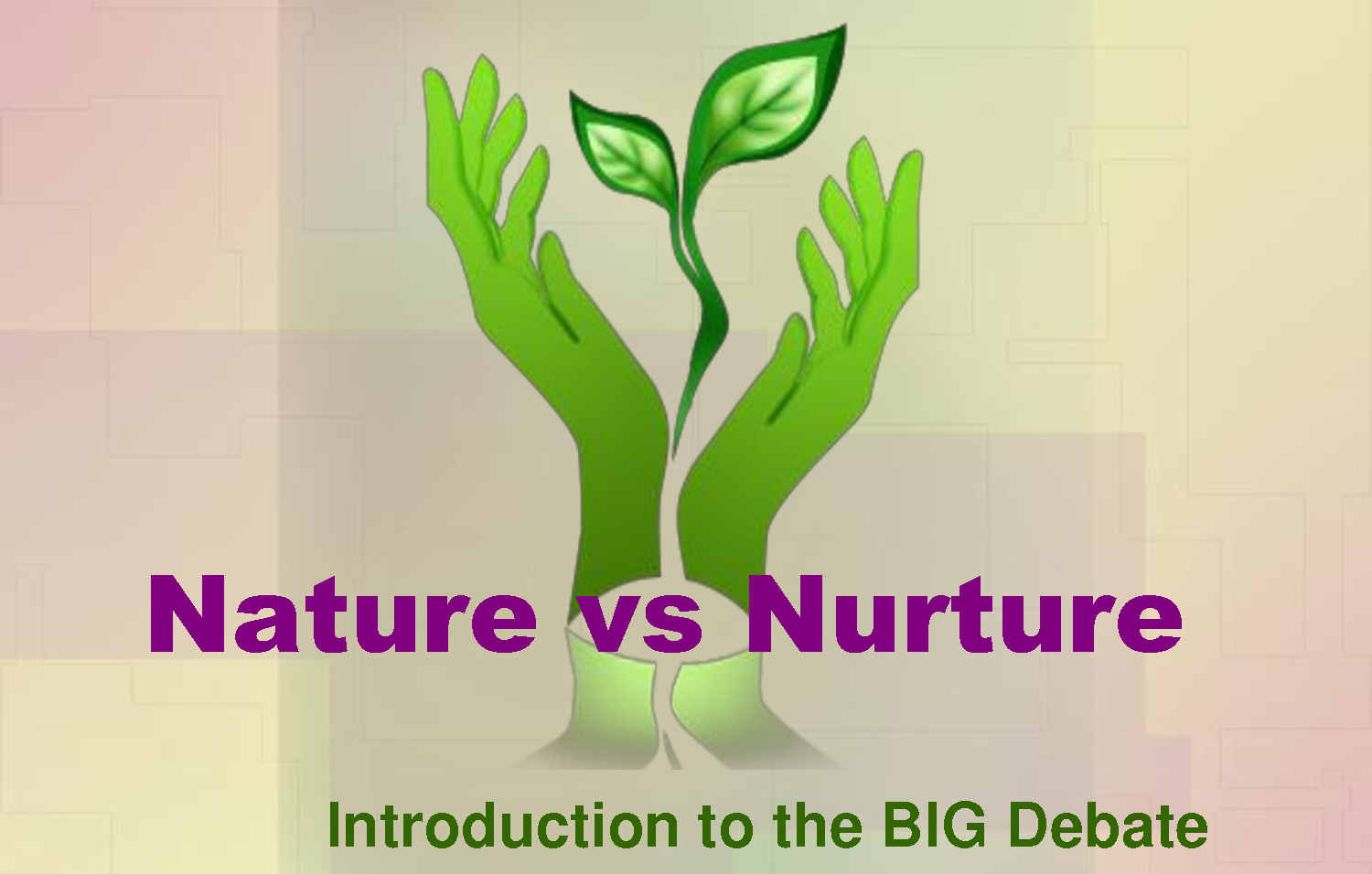 nature versus nurture research paper The nature versus nurture debate has been a classic controversy among experts for centuries nature versus nurture is a debate about how children.