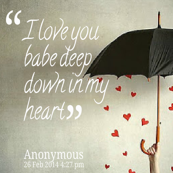 Quotes About Babe 60 Quotes Enchanting Bbe I Love You