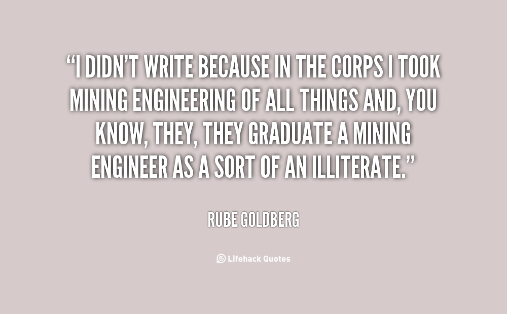 Quotes about Mining engineering (13 quotes)