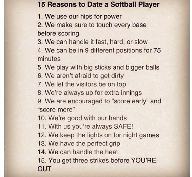 softball and baseball players dating