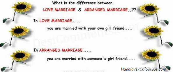a comparison of arranged marriages and marriages that are result of romance Many couples view cohabitation as a trial run for marriage today, approximately 28 percent of men and women cohabitated before their first marriage by comparison, 18 percent of men and 23 percent of women married without ever cohabitating (us census bureau 2010.