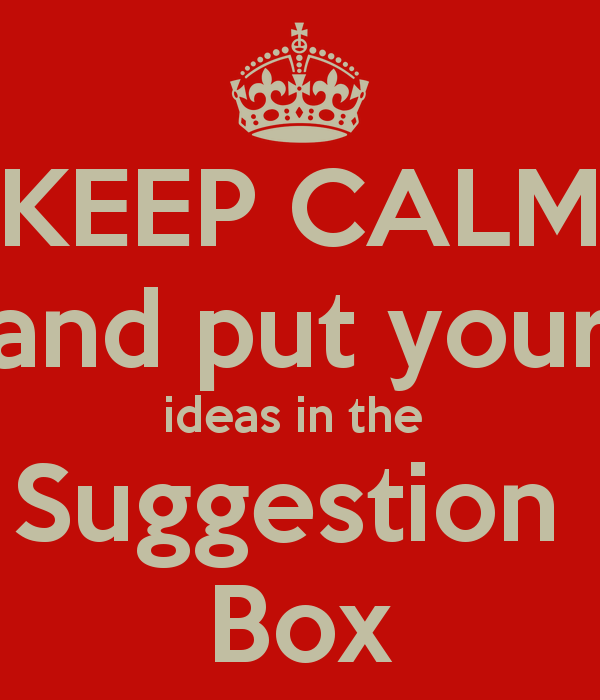 Quotes About Suggestion Boxes 29 Quotes