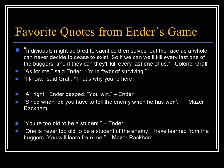 a literary analysis of the themes in enders game A literary analysis of the themes in enders game pages 1 words 567 view full essay more essays like this: enders game, children vs adults, games vs reality.
