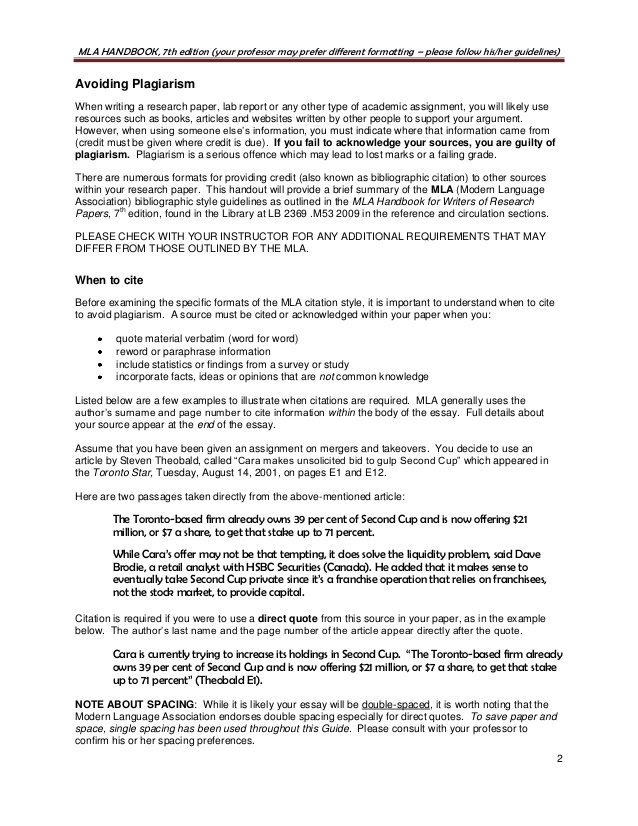 mla guidelines for writing a research paper