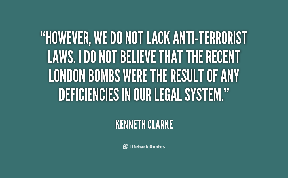 anti terrorism law essay Earlier this year, the indonesian parliament began considering amendments to the 2003 anti-terrorism law in response to the january 2016 starbucks bombing in jakarta's thamrin business district, the kampung melayu bus station attack, and the successes of the islamic state-inspired maute group, particularly their attack on the town of marawi.