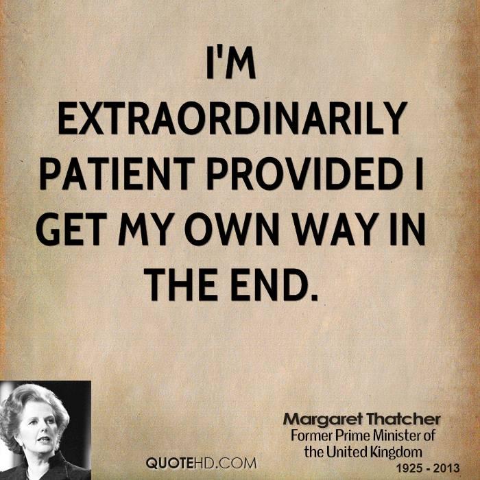 margaret thatcher s leadership skills