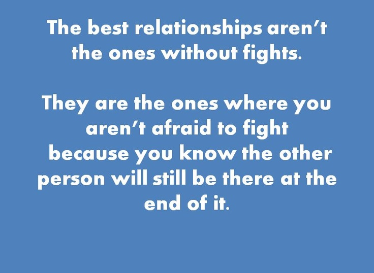 Fighting fair in a relationship