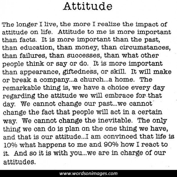 the importance of attitude appearance
