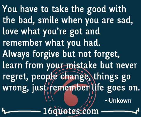 quotes about going on with life