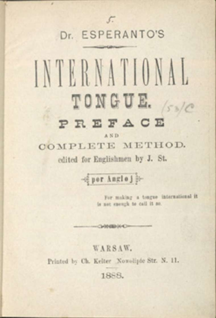 dr l l zamenhof tried to create a universal language