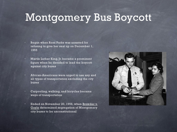 essay on the montgomery bus boycott Handout - handout - the montgomery bus boycott excellent site from the montgomery advertiser newspaper with biographies, an introductory video, timelines, interviews and contemporary newspaper headlines.
