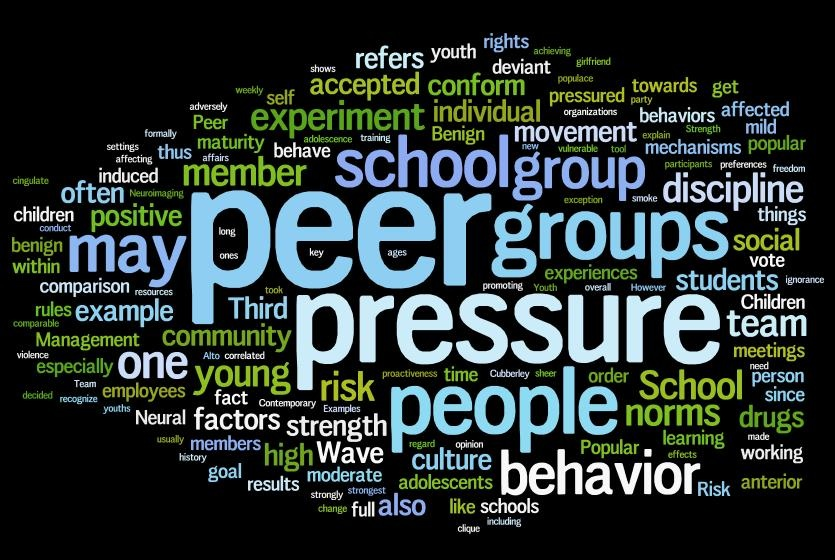 effect of peer pressure of students academic In surveys, youth report that overt peer pressure is not a factor for their smoking, but report that they sometimes experience internal pressure to smoke in the presence of other adolescents who are smoking, an evidence for the influence of perceived social norms rather than overt peer pressure (nichter, nichter, vuckovic, quintero, and.