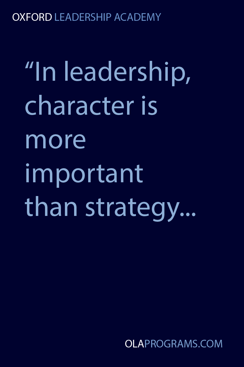how would you characterize the leadership of The performance of a leader must be judged by his or her skills and the character of his or her performance in the many and complex roles that leadership demands.