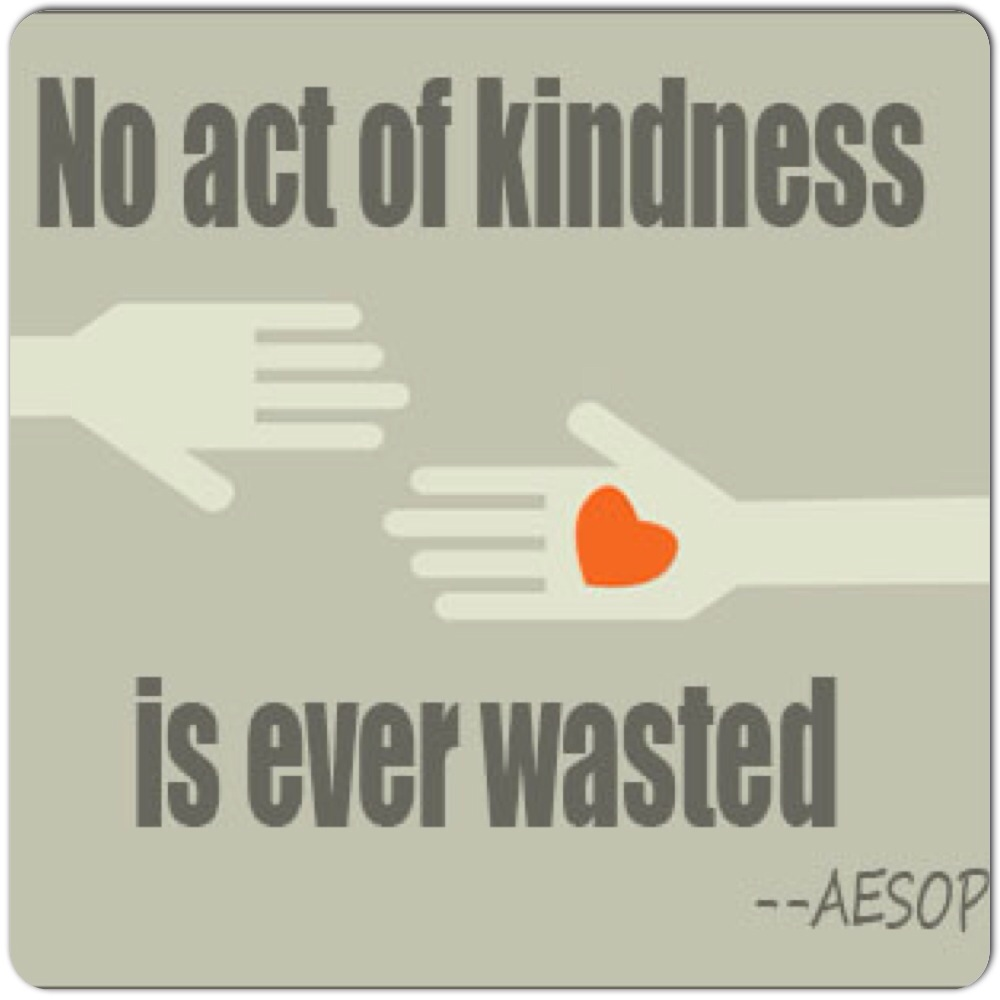 a personal story on the acts of kindness