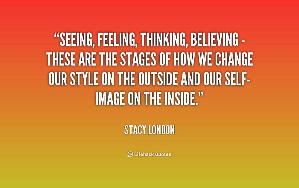 Seeing believing
