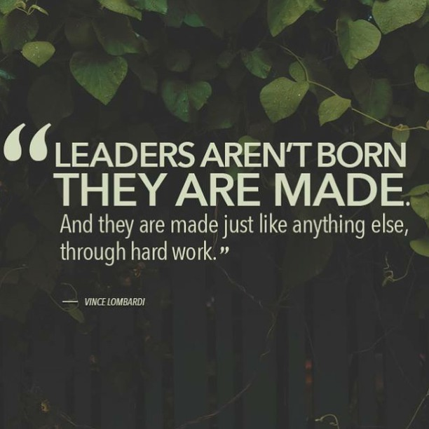 leaders are born not made quote