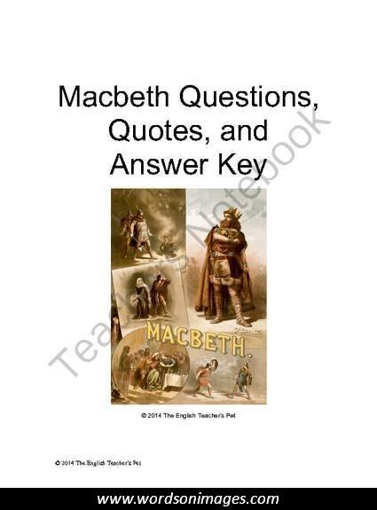 essays on macbeths ambition
