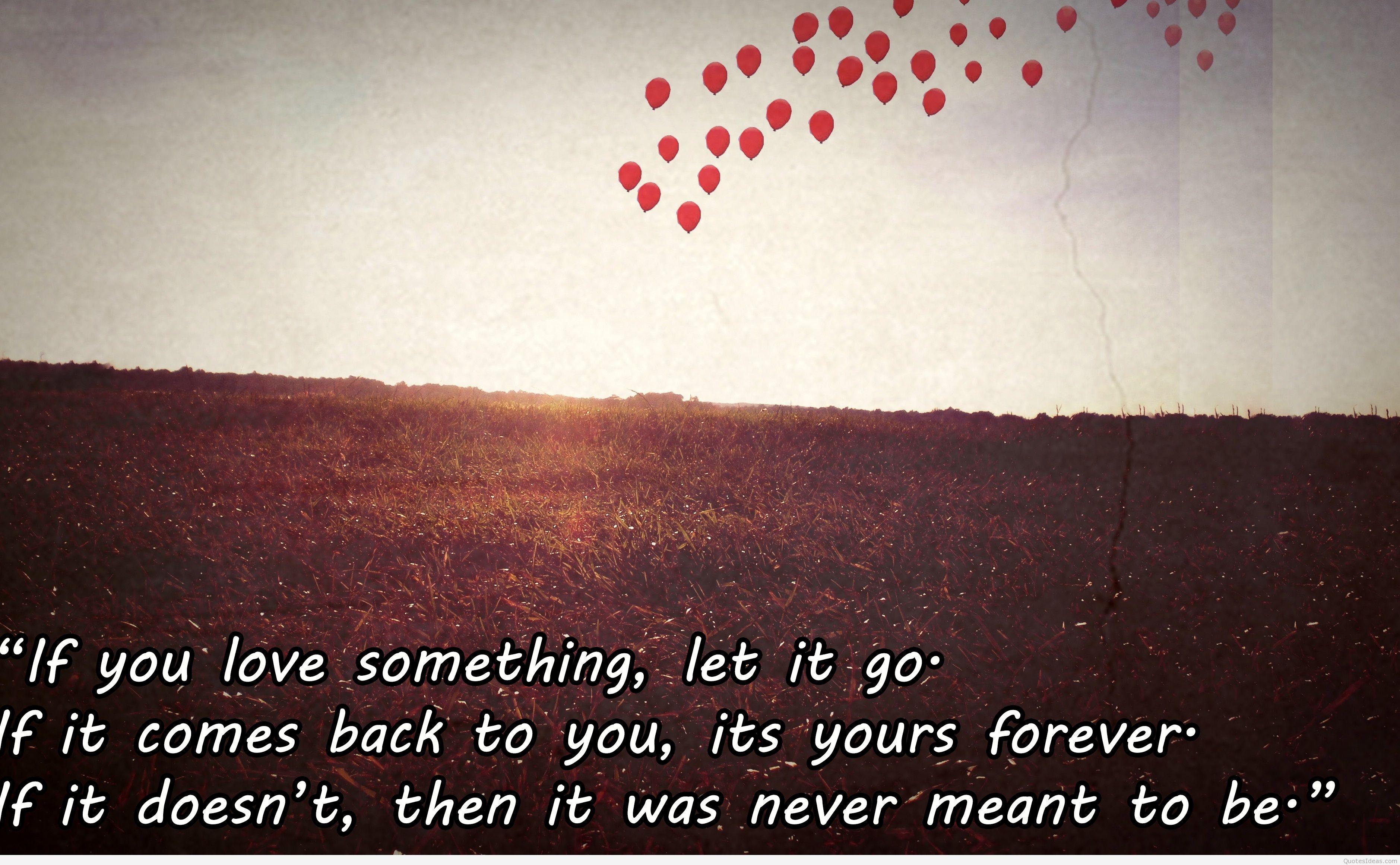 let go let love