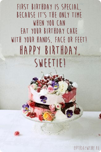 Quotes About First Birthday Cake