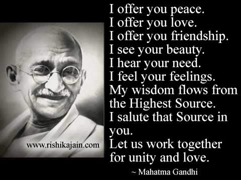 Quotes About Peace Mahatma Gandhi 60 Quotes Unique Gandhi Quotes On Peace