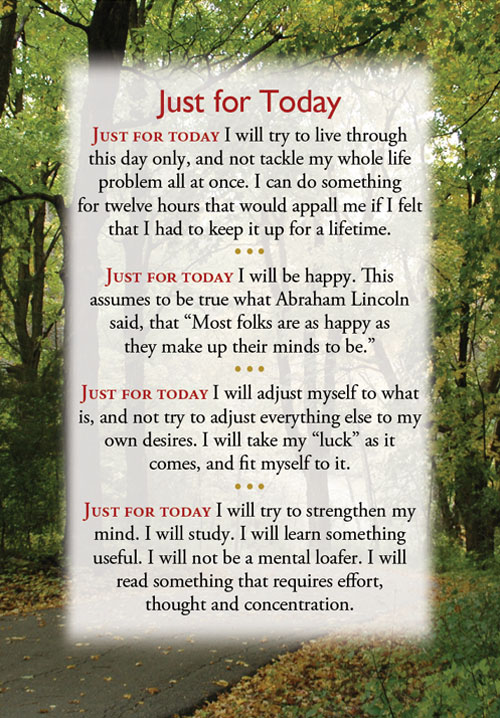 Quotes About Just For Today 60 Quotes Classy Just For Today Quotes