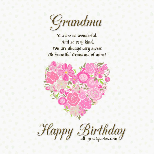 Quotes About Grandmothers Birthday 27 Quotes