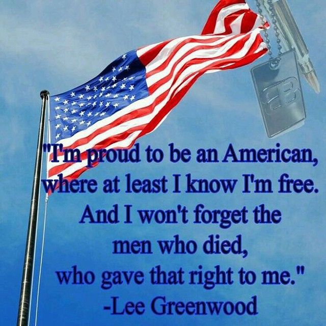 i am proud to be an american
