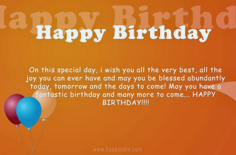 helpful non helpful happy birthday on this special day i wish you all the very best all