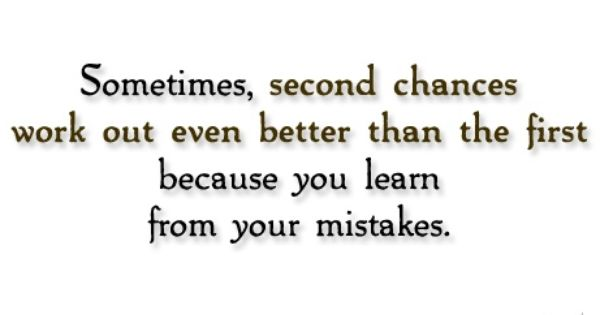 Second chance quotes for him