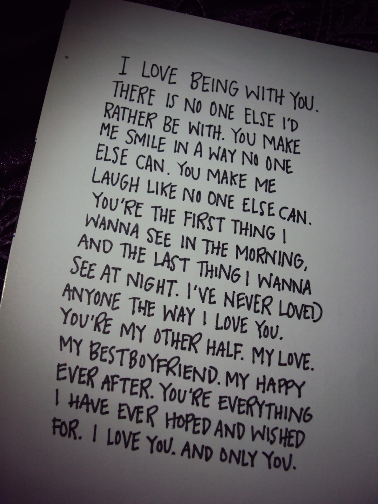 cute i love you notes for him