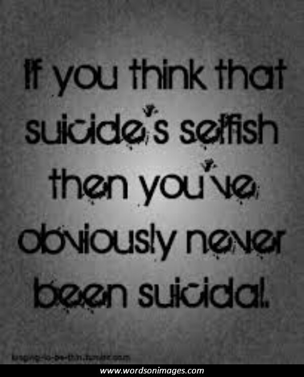 Quotes About Suicide Thoughts 60 Quotes Beauteous Suicidal Quotes