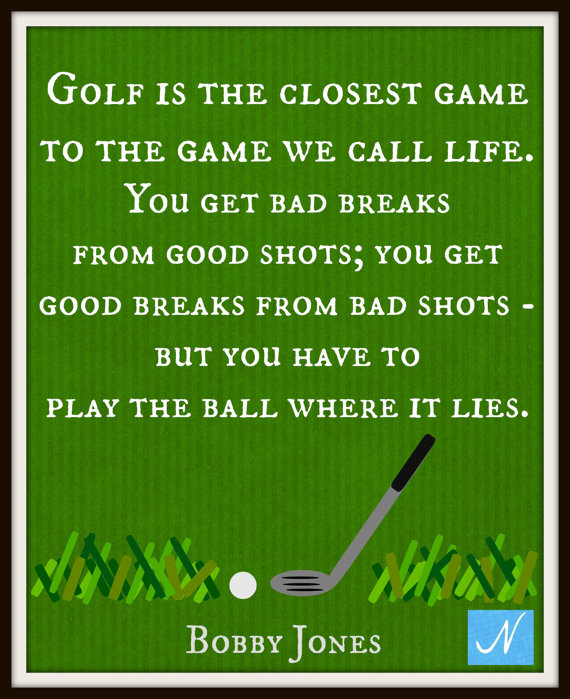 Quotes About Game Of Golf 60 Quotes Enchanting Golf And Life Quotes