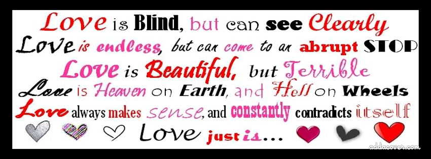 love blinded essay Love is blind essay love is blind essaysi am sitting at my desk, and suddenly it hits me: a beautiful idea for a new website, thatyou accept love on blind faith.