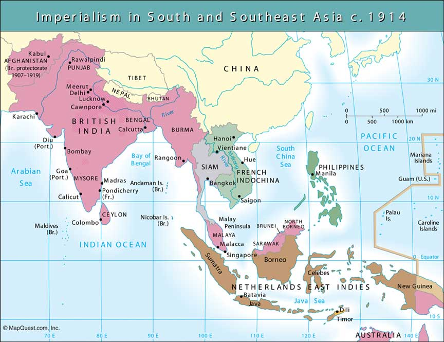 imperialism in asia European imperialism in asia began in india it was first called as the east indies, where western europeans first entered to asia in search for possible trade routes to china this then led to the age of discovery where people have expanded their colonies and empires throughout different areas in asia.